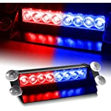 Generic Red & Blue Generation 3 LED Law Enforcement Use Strobe Lights For Interior Roof / Dash / Windshield
