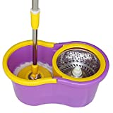 #8: PAffy 360 Degree Magic Spin Mop with Steel Spinner + 1 Refill Pack (Purple and Yellow) (New Launch - Promotional Price 899/- Till 31/08/2017 only)