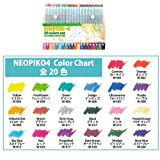 Neopiko -4 W20Z 20 color set (Japan import / The package and the manual are written in Japanese)
