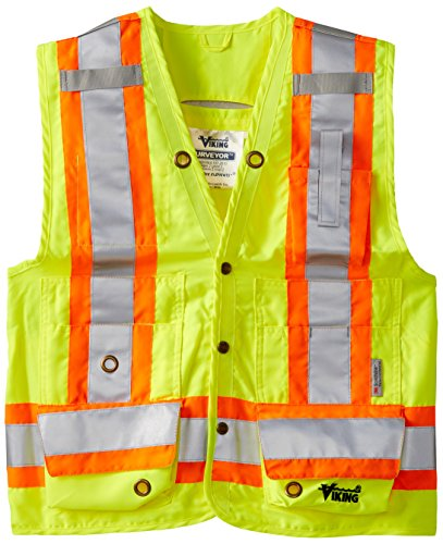 Viking Surveyor Hi Vis Safety Vest Green 3X Large