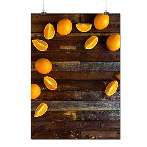 Délicieux Orange Fruit En bonne santé Matte/Glacé Affiche A2 (60cm x 42cm)   Wellcoda