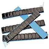 7 Auswuchtgewichte SCHWARZ 12x5g Klebegewichte Stahlgewichte Kleberiegel 60g mit ABRISSKANTE verzinkt & kunststoffbeschichtet 0