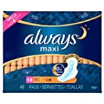 Always Maxi Pads With Wings, Overnigh...