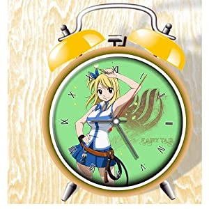 Fairy Tail Anime Colorful Design Twin Bell Alarm Clock, Yellow