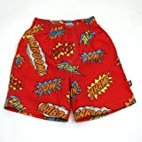 Lightening Bolt Super Hero Swim Trunks-3T
