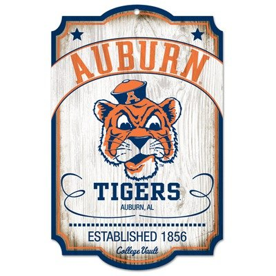 NCAA College Vault Auburn Tigers 11-by-17 Wood Sign at Amazon.com