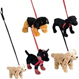 "11"" Pet Dog With Leash Plush, Case Of 12"