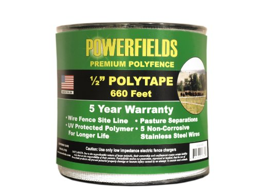 Powerfields Ew5-660 1/2-Inch Polytape, 660-Feet, White