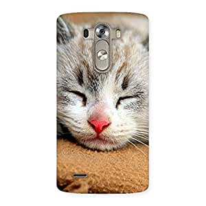 Premium Sleeping Cat Multicolor Back Case Cover for LG G3