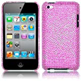 APPLE IPOD TOUCH 4TH GEN BUTTERFLY PATTERN DIAMANTE CASE - PINKby Qubits