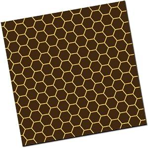 Chocolate Transfer Sheet: Honeycomb - Gold - 25 Sheets