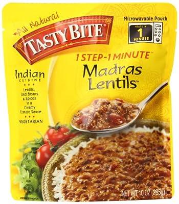 Tasty Bite Madras Lentils, 10oz Pouches, 6-Count by Tasty Bite