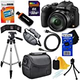 Panasonic Lumix DMC-FZ200 12.1 MP Digital Camera with CMOS Sensor and 24x Optical Zoom (Black) + 11pc Bundle 32GB Deluxe Accessory Kit w/ HeroFiber Ultra Gentle Cleaning Cloth