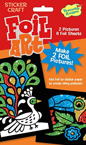 Peaceable Kingdom Foil Art Birds Sticker Craft Pack