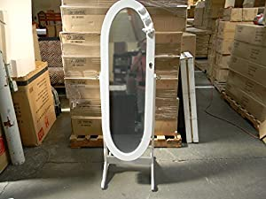Amazon Com Oval Stand Mirror Jewelry Cabinet With