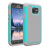 Image of S7 Active Case, Galaxy S7 Active Cases, Asstar [Shock Absorption] Slim Fit Dual Layer Rugged Heavy Duty Protective Bumper Case for Samsung Galaxy S7 Active 2016 (Mint)