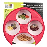 Meal Measure Portion Control / Weight Management Plate (RED)