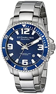 Stuhrling Original Men's 395.33U16 Aquadiver Regatta Champion Watch, Blue
