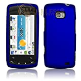 51jMP8WWs%2BL. SL160  LG Ally VS740 Cell Phone Rubber Feel Dark Blue Protective Case Faceplate Cover
