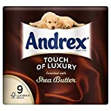 Andrex Touch of Luxury Enriched with Shea Butter Toilet Tissue Rolls - 160 Sheets per Roll (9)
