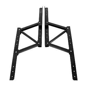 Boshen 1Pair Multi-Functional Lift Up Top Coffee Table Lifting Frame Furniture Mechanism Fitting Spring Hinge Hardware (Color: Black, Tamaño: H7.80)