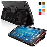 Snugg Tab 3 8.0 H�lle (Shwarz) - Smart Cover mit Aufsteller, elastischer Handschlaufe, Stylus-Halterung und Premium Nubuck Innenfutter f�r Samsung Galaxy Tab 3 8.0