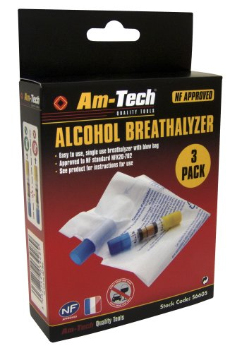 Am-Tech Boite de 3 alcootests