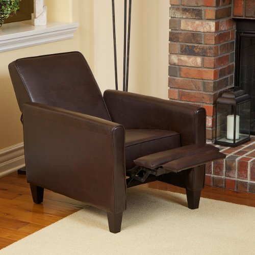 lucas brown leather recliner club chair review best recliners