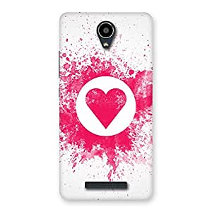 Special Splash Heart Back Case Cover for Redmi Note 2