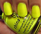China Glaze Nail Polish - Yellow Polka Dot Bikini 14ml