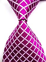 Shopinthebox Pure white Diamond Silk Classic Woven Man Tie Necktie TIE