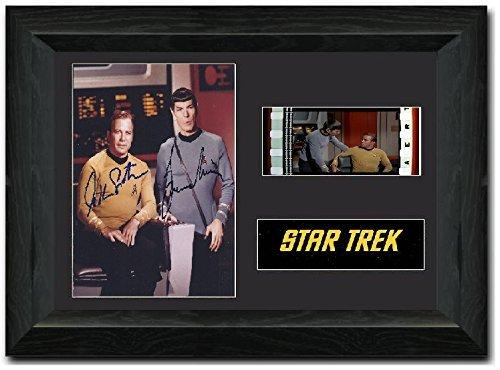 STAR TREK 35mm Film Cell Display firmato Stunning da collezione Leonard Nimoy Spock