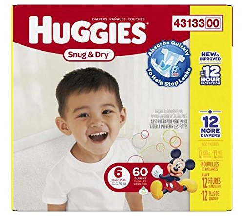 Huggies Snug and Dry Diapers - Size 6 - 60 ct - 1