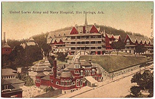 Post Card U.S. Army Navy Hospital Hot Spring Arkansas