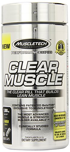 MuscleTech Clear Muscle, Advanced Muscle and Strength Building Formula, 84 Liquid Capsules