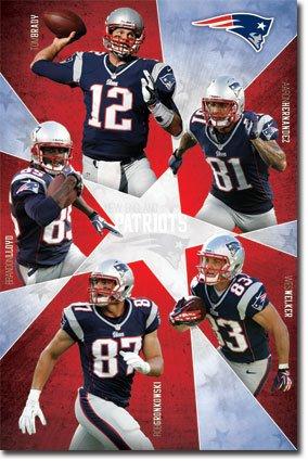 ▷▷▷▷▷ New England Patriots Super Five Football NFL Poster ... 7c0c0f920382