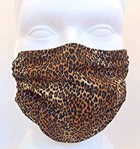Leopard Skin Mask - 2 Pack - Antimicrobial Germ Killing Mask