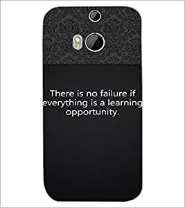 HTC ONE M8 S FAILURE QUOTE Designer Back Cover Case By PRINTSWAG