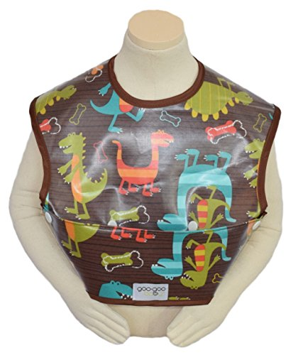 Perfect Pocket Bib in Dino Print, Size Small (4-24 Months) - 1