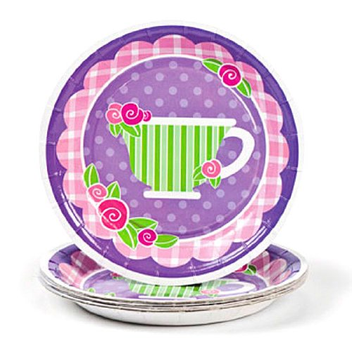 Girly Tea Party Dessert Plates