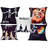 MeSleep Digitally Printed Music 5 Piece Cushion Cover Set - Multicolor
