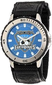 Game Time Mens MLS-VET-SJ San Jose Earthquakes Veteran Round Analog Watch by Game Time