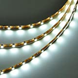 LEDwholesalers 16.4 Feet (5 Meter) Flexible LED Light Strip with 300xSMD3528 and Adhesive Back, 12 Volt, White, 2026WH