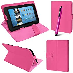 2010kharido Universal Leather Smart Case Cover Stand for all 7 inch Tablet Pink