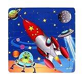 Ularma Lindo Juguetes de madera de los cabritos Jigsaw para la educaci�n de los ni�os y Puzzles juguetes de aprendizaje (multicolor13)