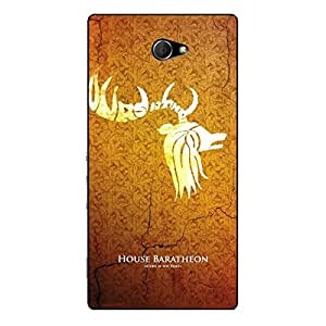 EYP Game Of Thrones GOT House Baratheon Back Cover Case for Sony Xperia M2