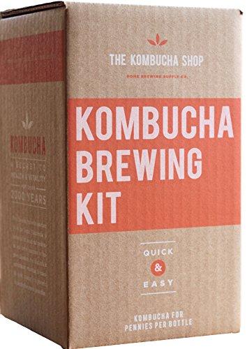 Kombucha Brewing Kit with Organic Kombucha Scoby. Includes Glass Brew Jar, Organic Kombucha Loose Leaf Tea, Temperature Gauge, Organic Sugar and More! (Kombucha Tea Starter Kit compare prices)