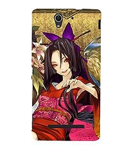 EPICCASE fantasy lady Mobile Back Case Cover For Sony Xperia C3 (Designer Case)