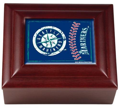 MLB Seattle Mariners Wood Keepsake Box