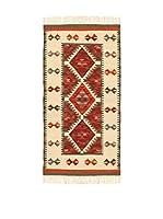 Kilim Carpets by Jalal Alfombra In Kilim Zagros (Beige/Rojo)